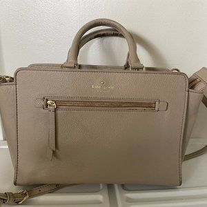 Kate Spade Satchel- Tan/Taupe and Gold